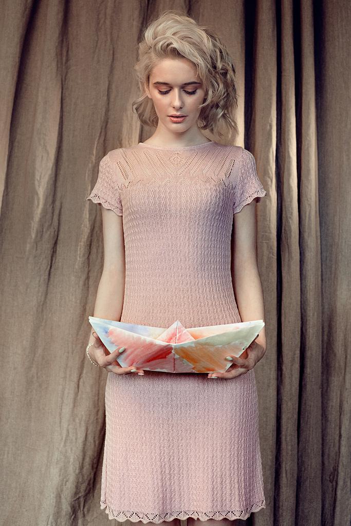 романтичное кремовое платье