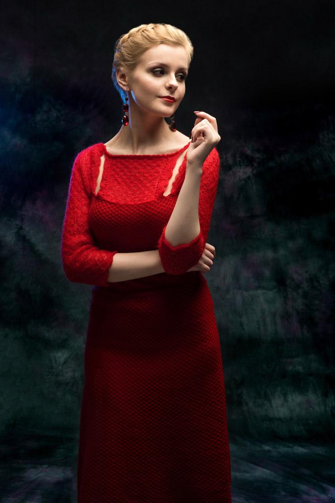 katerina kulida алое вечернее платье