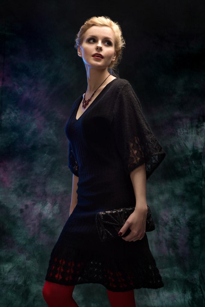 новогоднее черное платье дизайнер катерина кулида