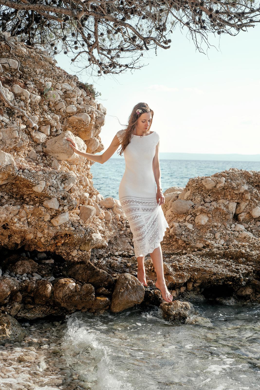 вязаное свадебное платье летняя свадьба свадьба у моря