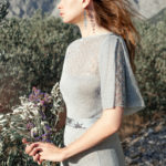 Серебряное свадебное платье