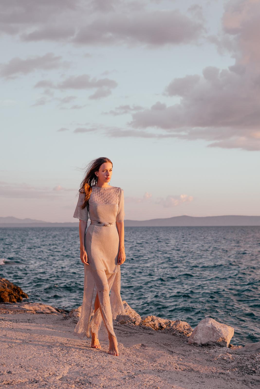 закат море красивый пейзаж красивое платье свадебное свадьба на пляже