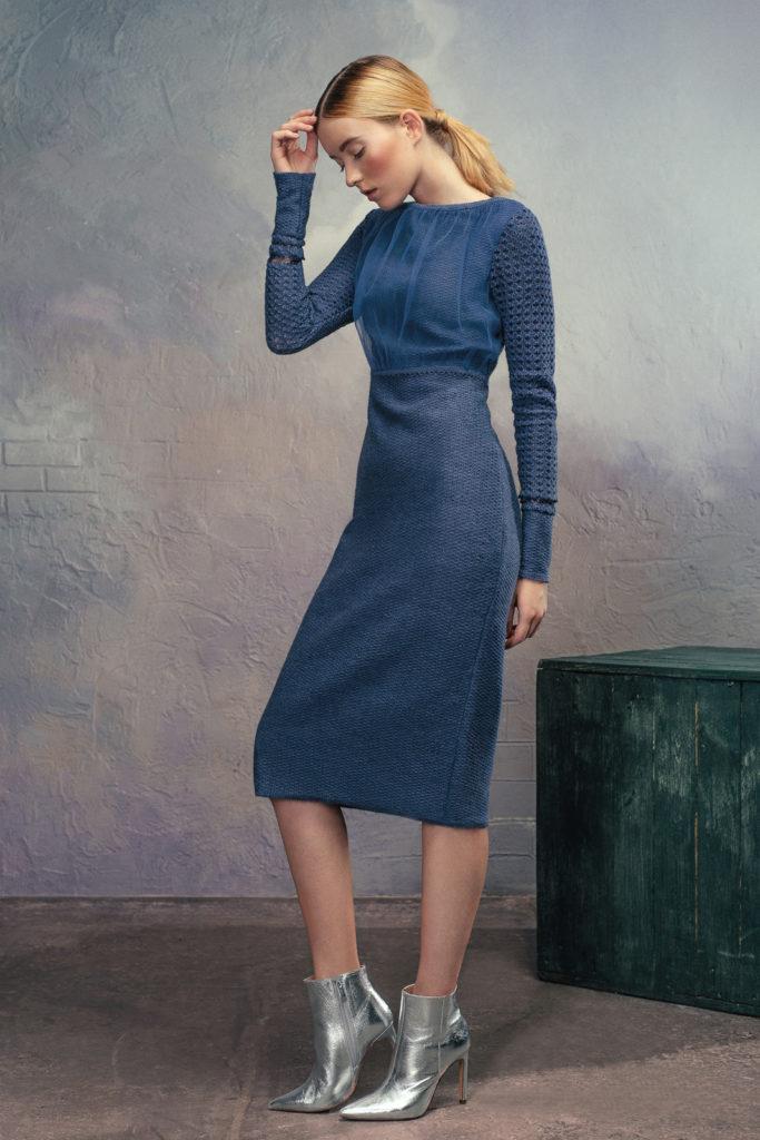 модный силуэт трендовый цвет модные тенденции осень зима 2018 дизайнер вязаного трикотажа